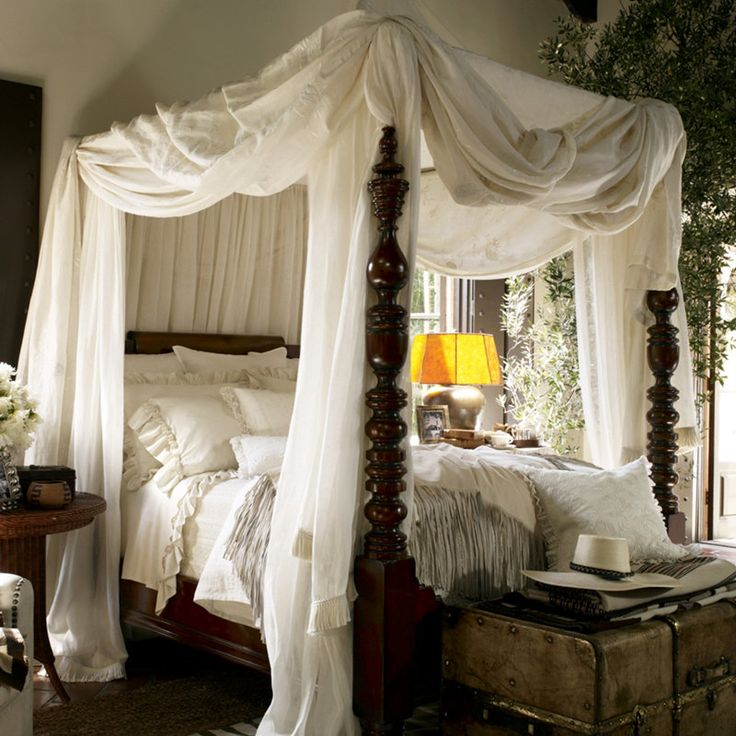 25 best ideas about canopy beds on pinterest girls for Black and white vintage bedroom ideas