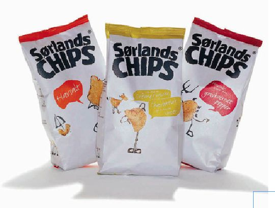Packaging, Sørlandchips - at Scandinavian Design Group