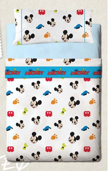 Decoración Mickey Mouse para camas infantiles, qué bonito.
