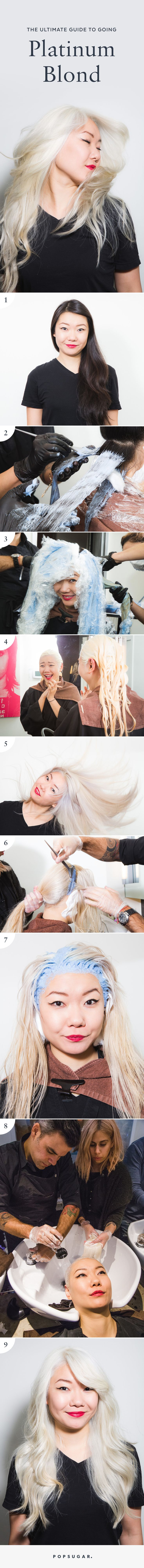 How to go from black hair to platinum blonde!