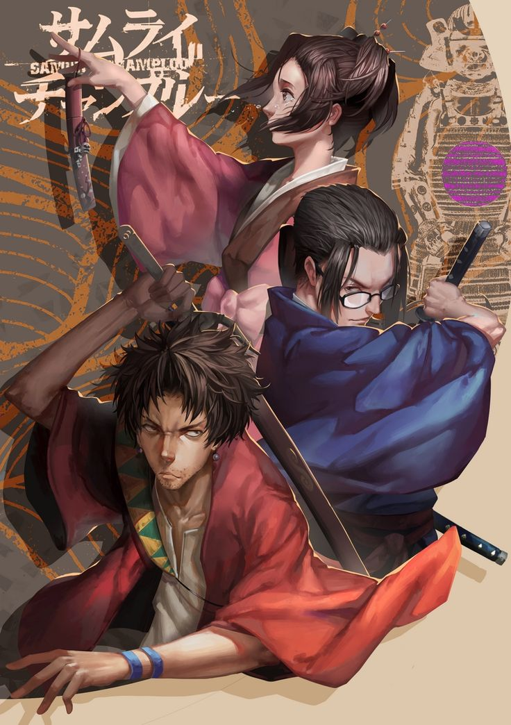 Tags: Fanart, Samurai Champloo, Pixiv, Mugen (Samurai Champloo), Kasumi Fuu, Jin (Samurai Champloo), Fanart From Pixiv, LighTofHeaveN