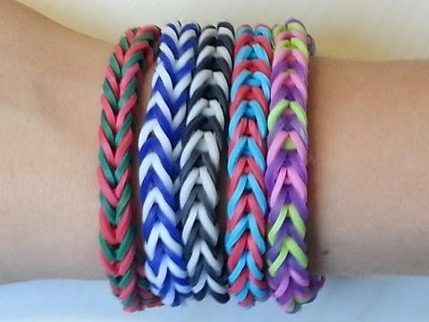 awesome RAINBOW LOOM FISHTAIL BRACELET BY HAND - EASY