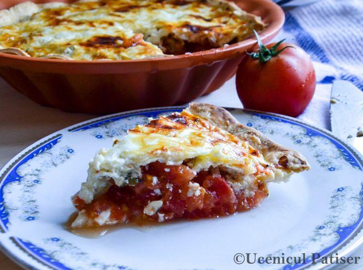 Tomato and greek yogurt Pie  Tartă de roșii cu iaurt grecesc