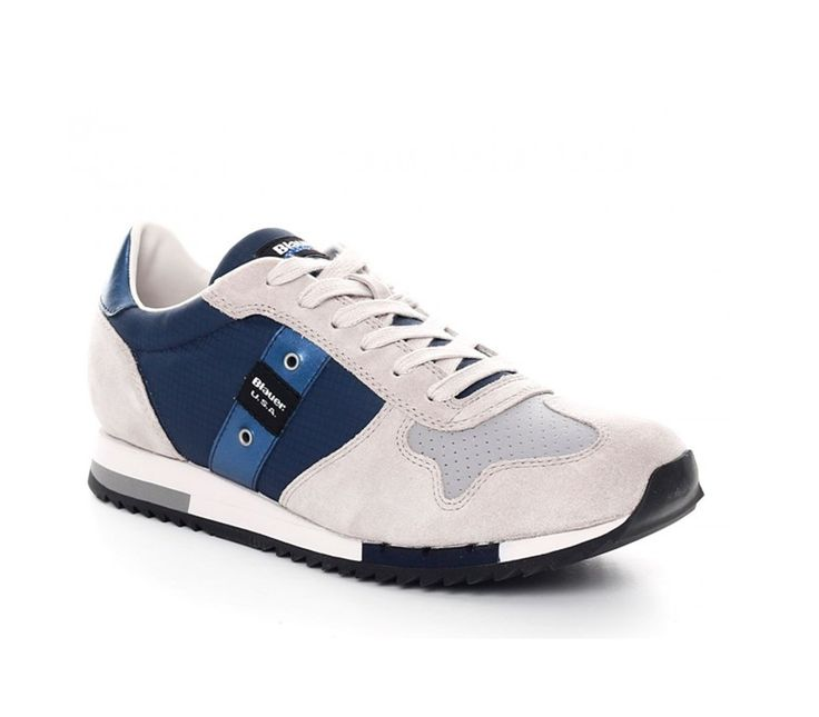 Sneaker Blauer uomo 7s runlow top blu navy suede spring summer 2017