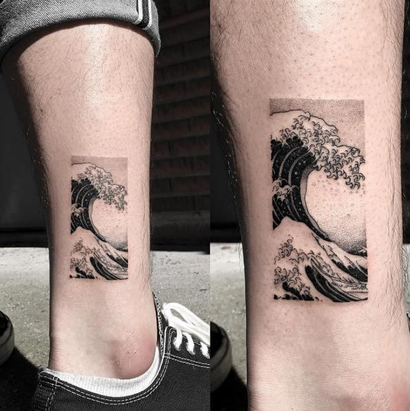 The Great Wave off Kanagawa tattoo by OOZY