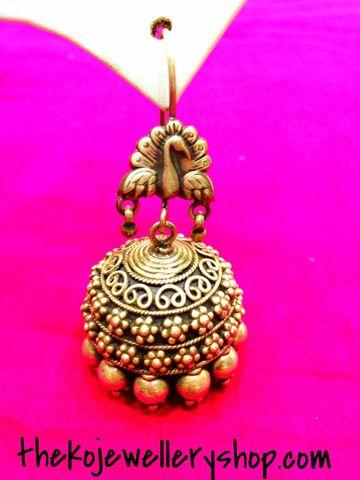 The Silver Tavus Jhumka   The KO Jewellery Shop