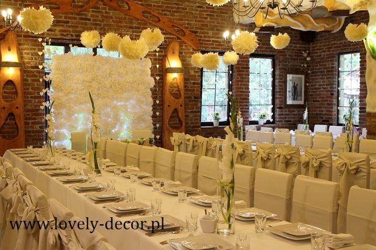 Dekoracja sali weselnej  #ślub #wesele #wedding
