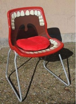 Chair in a dental office