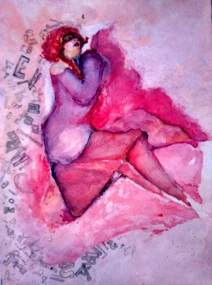 """""""place"""", 2011, aguada sobre papel"""