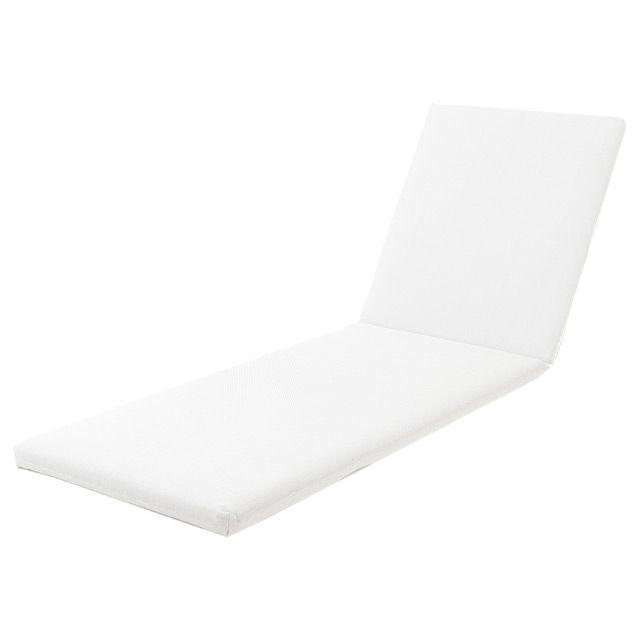 Coussin de bain de soleil Aqua blanc 190 x 60 cm - CASTORAMA