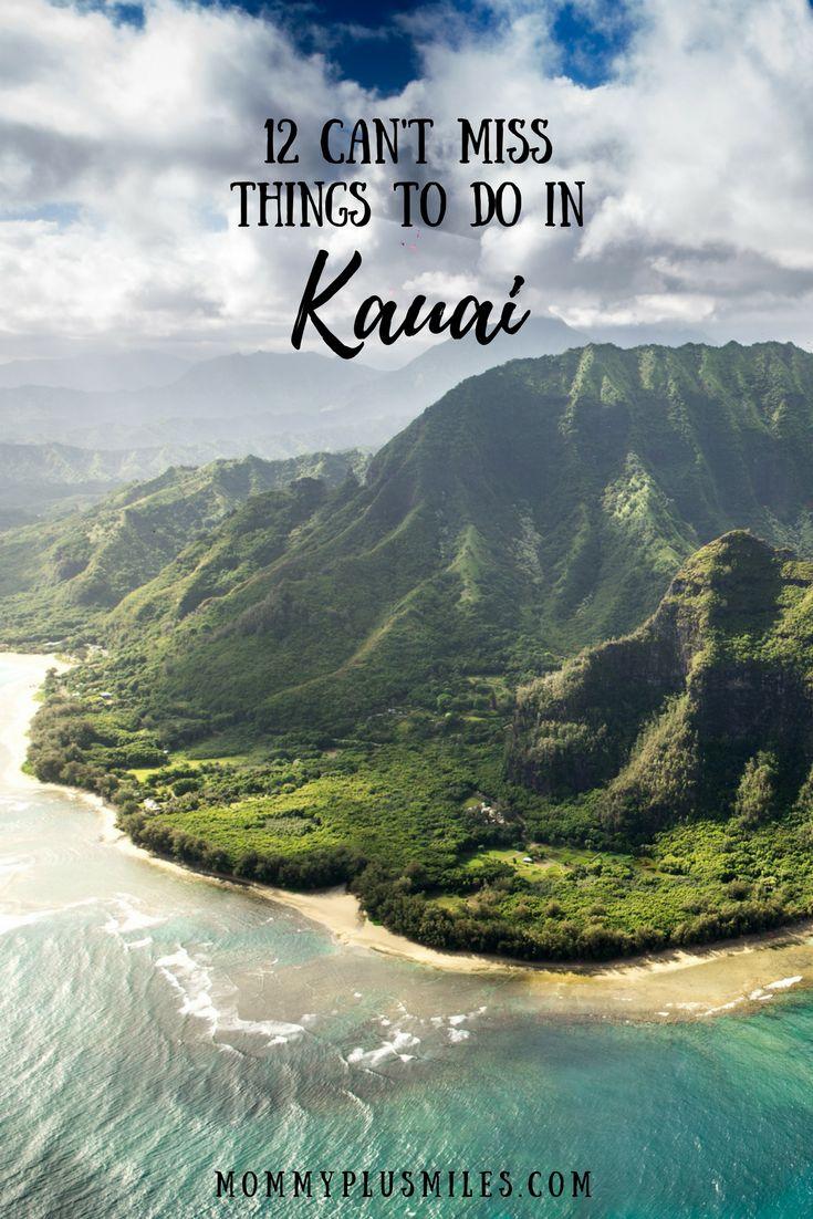 12 Can't Miss Things to Do in Kauai, Hawaii, USA. The garden isle is full of beautiful sights to see like Waimea Canyon, Wailua Falls, Hanalei Bay, Na Pali Coast, Poipu Beach, and Tunnels Beach. #kauai #hawaii #waimea #wailua #napali