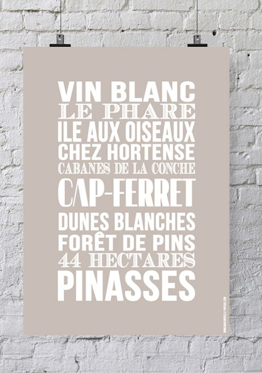 Affiche Bord de mer «Cap Ferret»