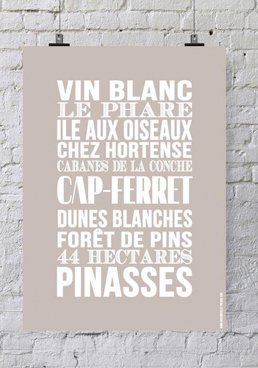 Affiche Bord de mer « Cap Ferret »