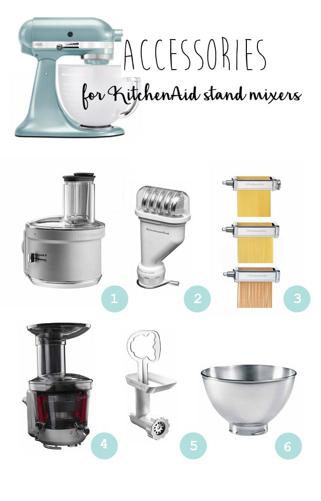 Favourite attachments and accessories for the KitchenAid Stand Mixer