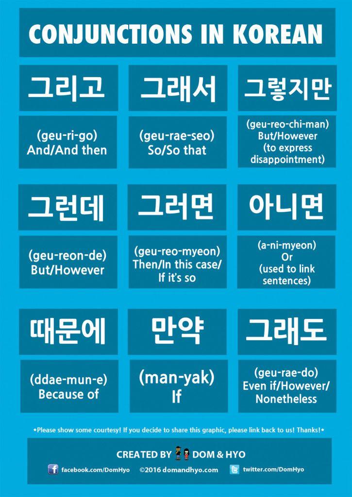 #Conjunctions #learn #Korean