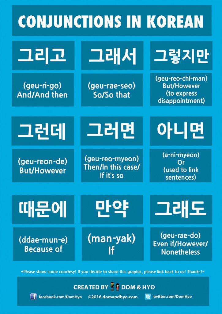 Learn Korean: Conjunctions in Korean |
