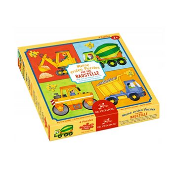 4 Παζλ Οχήματα Οικοδομής (4, 6, 9, 12 τμχ) | Το Ξύλινο Αλογάκι - παιχνίδια για παιδιά