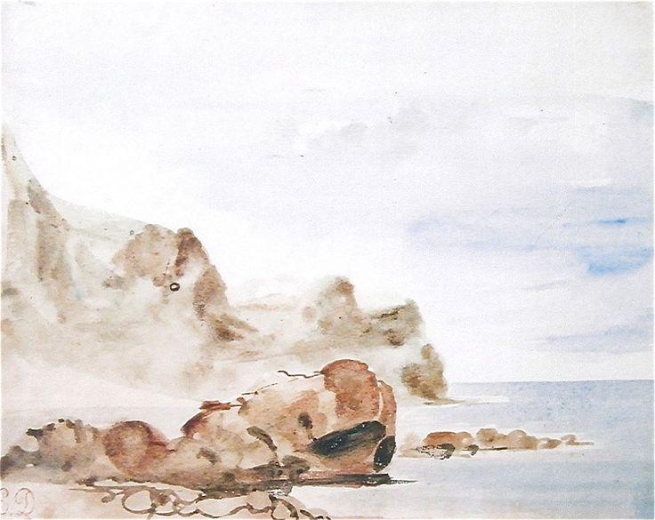 Falezy Dieppe | Eugène Delacroix [1834]