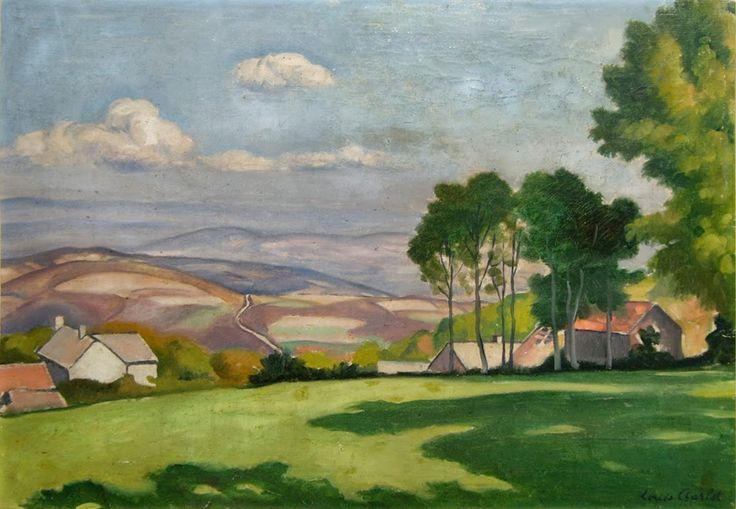Charlot louis 1878 1951 village d 39 huchon dans le morvan et vue de la maison du peintre - La maison du peintre ...