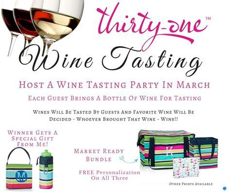 Wine Tasting Thirty-One party with March 2016 Hostess Special