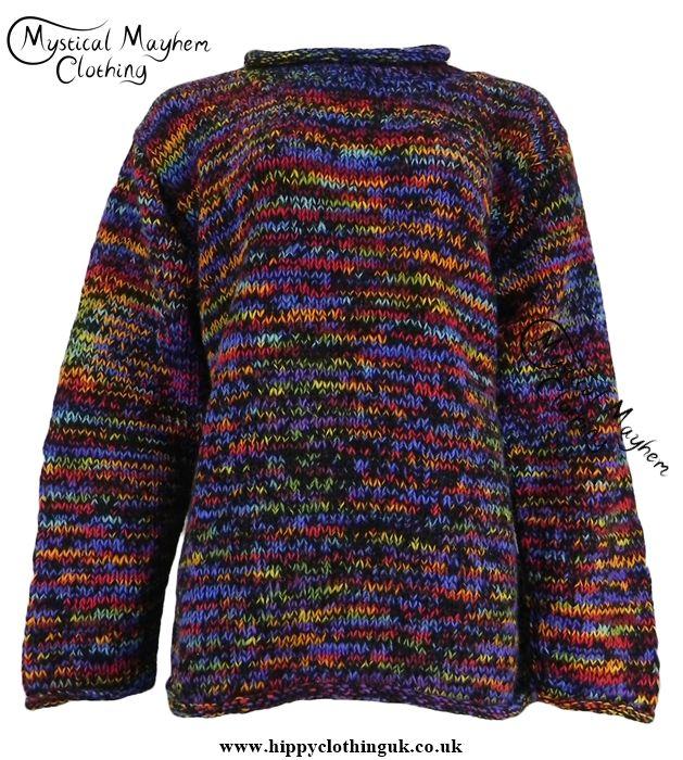 Gringo Black Multicoloured Nepalese Wool Jumper