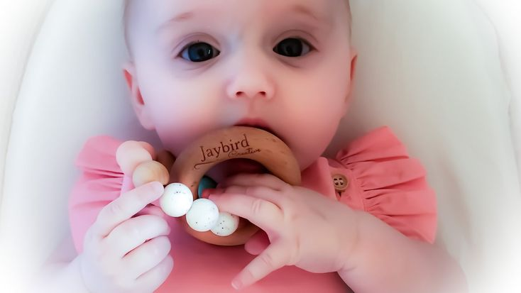 Jaybird Creative Classic silicone and beech wood teether