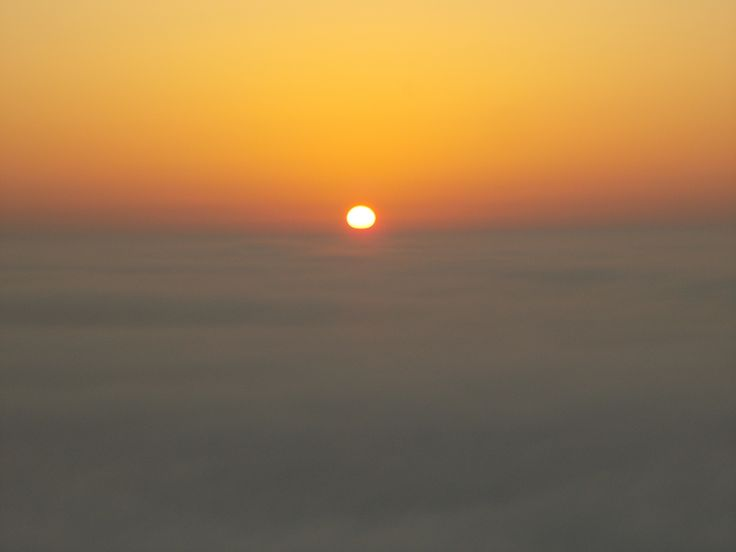 Sunset Above the clouds in Cornwall ♥
