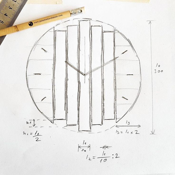 Concept design of our Klorx structural wall clock. Designed to inspire.