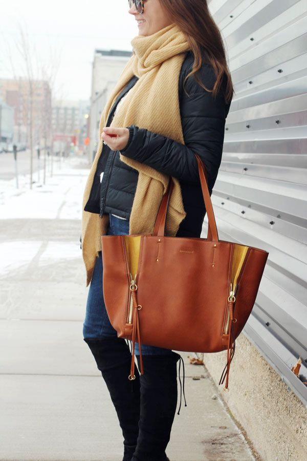 jillgg's good life (for less) | a west michigan style blog: my everyday style: out and about! #winteroutfit #cozyscarf #puffercoat #everlane #chloe #grandrapidsmi #midwestblogger