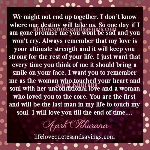 Ours Wont Be As Fierce This Time But >> We Might Not End Up Together I Don T Know Where Our Destiny Will