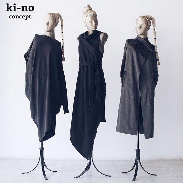 We are obsessed with black color! ▪️dress ▪️vest-coat ▪️coat Fall essentials. Grab one while you can.  Worldwide shipping - www.kinoconcept.com  Russia only - www.kinoconcept.ru #kinoconcept