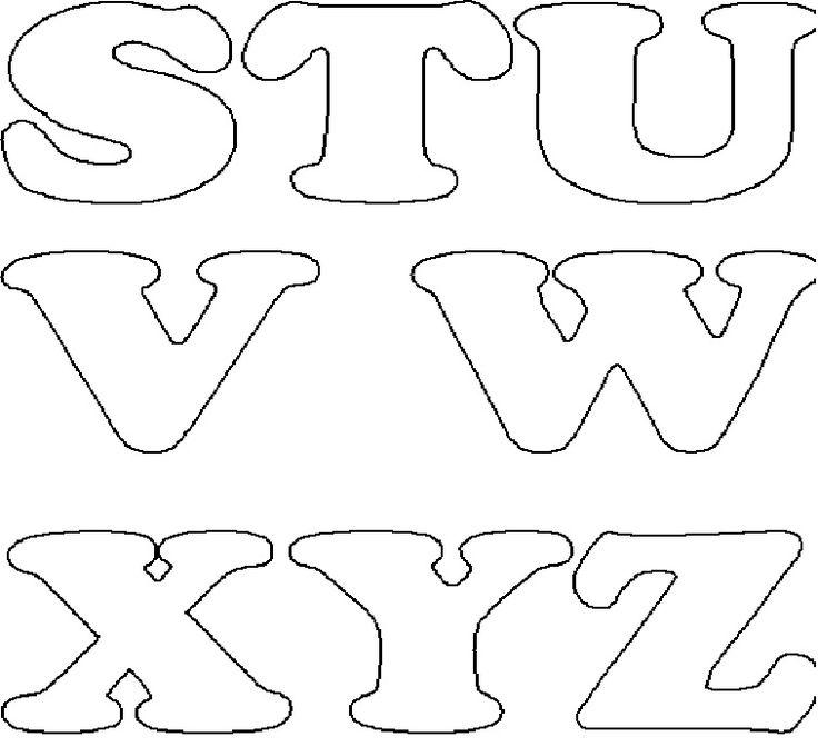 Oficina Artes da Adilma: Moldes de letras úteis para usar em trabalhos em feltro ou em patch aplique