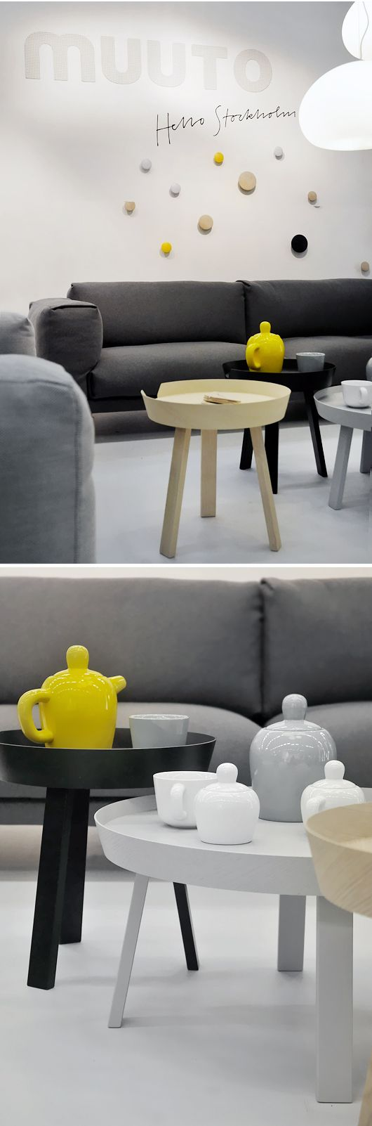 Muuto at Stockholm Fair - featuring the Around coffee table and the Bulky teapot