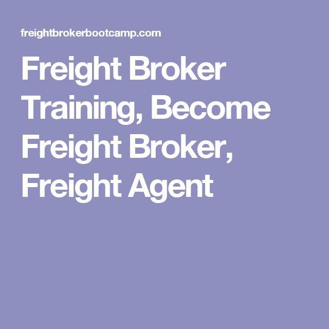 Freight Broker Training, Become Freight Broker, Freight Agent