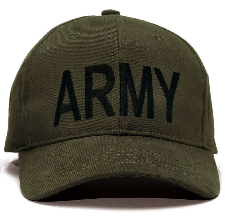 """ARMY Baseball Caps - Black, Olive, And Woodland Camo Accents - Comfortable Brushed Cotton Twill - Black Cap With Gold """"ARMY"""" Embroidery On Front Panel (9285) - Olive Drab Cap With Black """"ARMY"""" Embroid"""