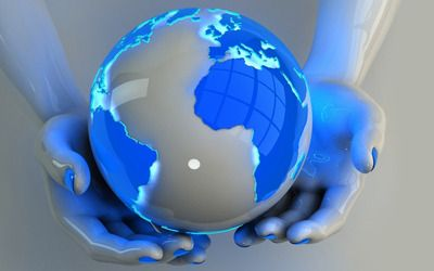 Holding the globe wallpaper