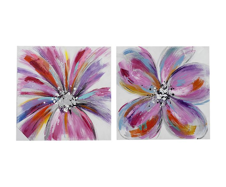 Набор из 2 картин - холст - Д60хШ60 | Westwing Интерьер & Дизайн
