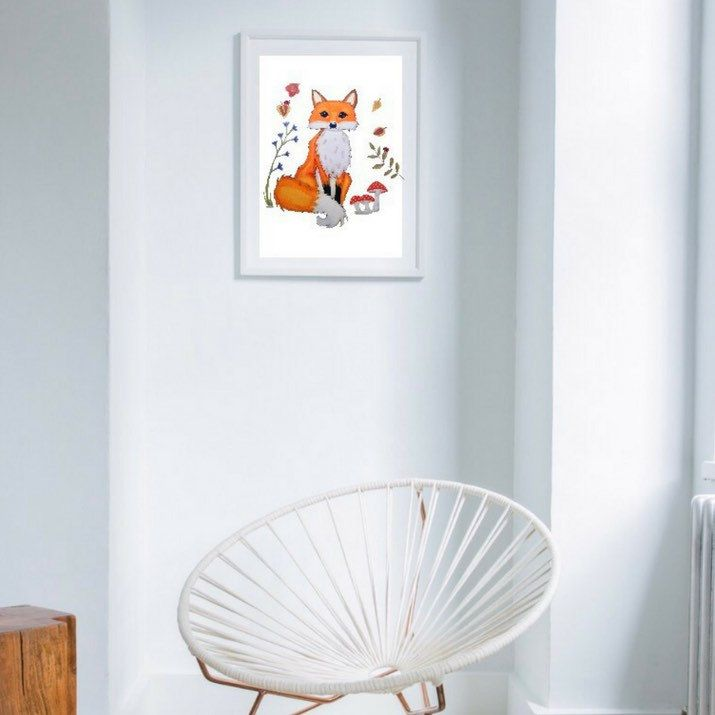 This Adorable fox print will chase all the bad Dreams away and will watch over your baby in his woodland nursery, the whole night! This cute fox decor takes good care of your little one while he is sleeping. Available at Lumisadesign