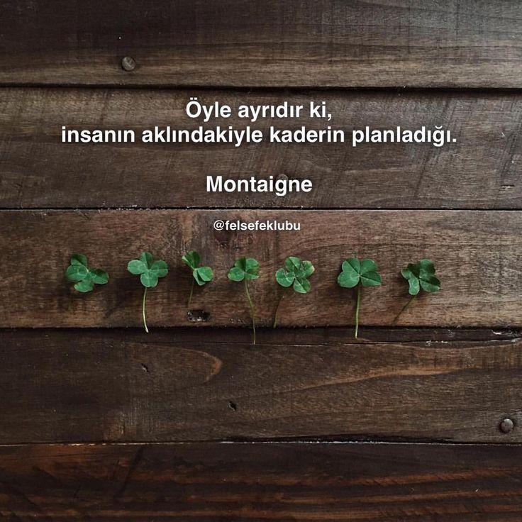 Öyle ayrıdır ki, insanın aklındakiyle kaderin planladığı. - Michel De Montaigne…