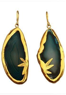 Shoreline Teal Agate Earrings