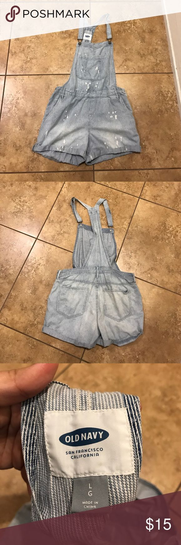 Old navy stripe overalls Cute Old Navy overalls. Only worn once. Very comfy. Old Navy Pants