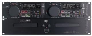 Platine Double Cd Audiophony Mpu320  Double lecteur CD avec deux ports USB mass storage et molettes sensitives.  Molette sensitive pour simulation de platine vinyle.  2 ports USB (un à l'arrière) pour clef ou disque dur.  Permet de lire plusieurs milliers de fichiers MP3. L'accès à la même source peut être simultané des deux côtés