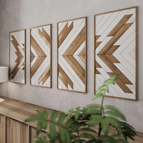 Native Pattern Wood Wall Art Set Large Wooden Wall Art Etsy In 2020 Rustic Wood Wall Art Wood Wall Art Diy Large Wood Wall Art