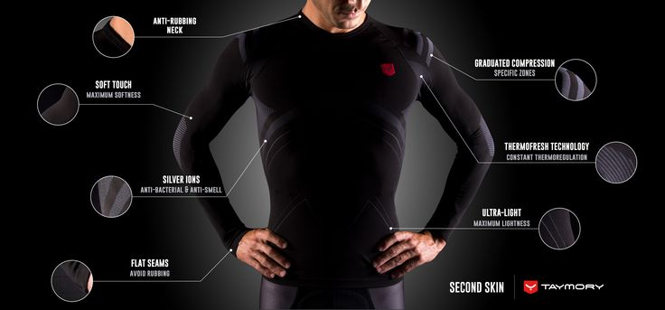 New compression shirts by Taymory. Feel the technology for a maximum performance.