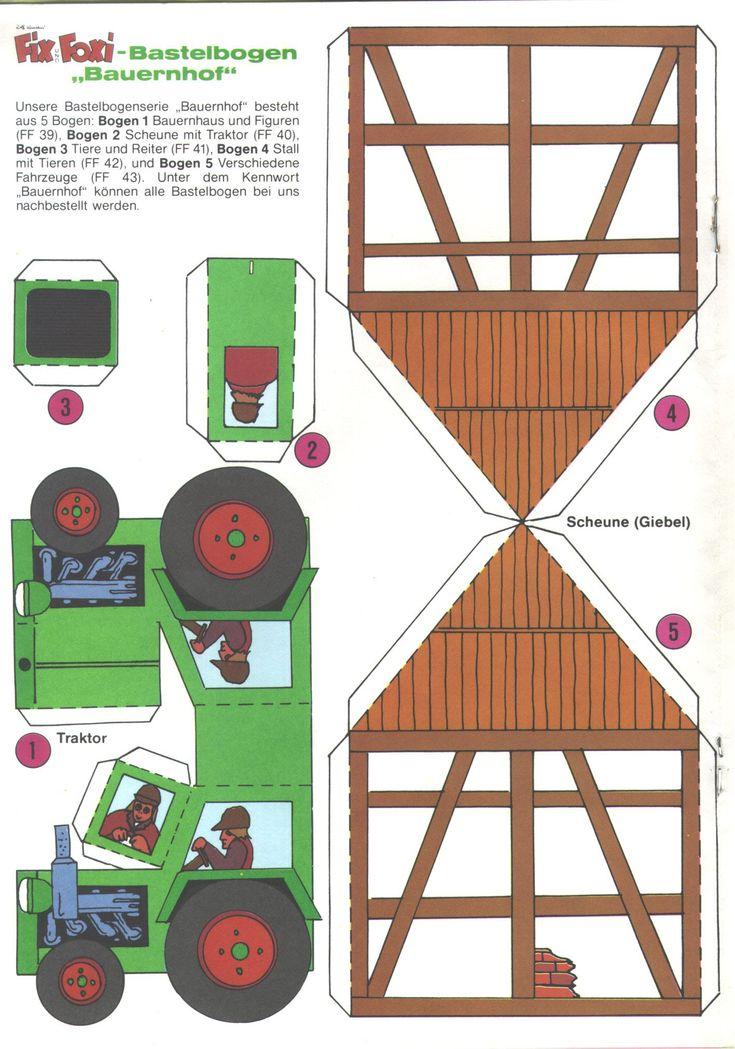 les 8 meilleures images du tableau tracteurs sur pinterest tracteurs paper toy et jouets en. Black Bedroom Furniture Sets. Home Design Ideas