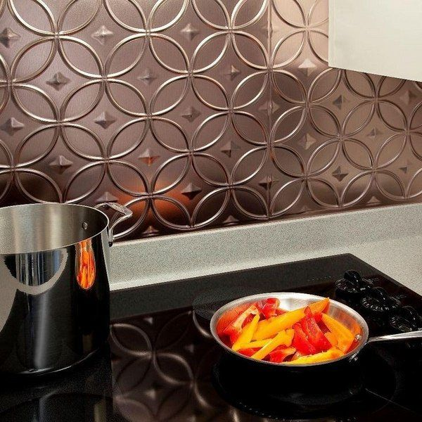 copper backsplash tiles self adhesive kitchen backsplash tiles kitchen decor ideas - Easy Backsplash Ideas For Kitchen
