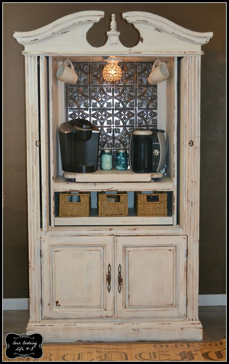 Ever Evolving Life 4-5: Armoire Turned Coffee Bar