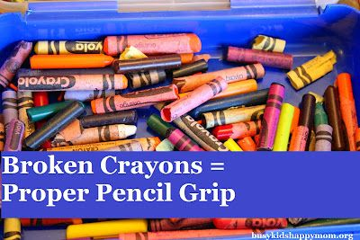 Simple trick for parents to help their child understand pencil grip. Benefits