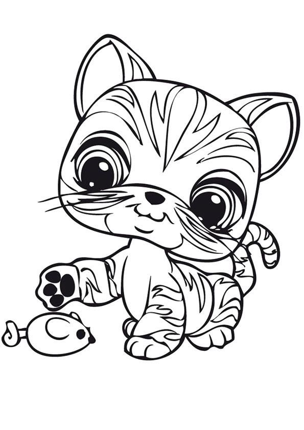Littlest Pet Shop Coloring Pages Cute Cat Cat Coloring Page