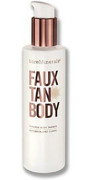 I have spent a small fortune over the last decade on self tanners, so when I picked up a bottle of Bare Escentual's Faux Tan Body, I didn't have very high expectations.  Let me tell you...this stuff is AMAZING!  It goes on super dark so you can see where you put it (or where you need to rub in some more), it doesn't smell and  it hasn't stained clothes or sheets (yet).  This would look amazing on any skin tone, but especially if you have olive skin like me - the closest thing to a real tan!